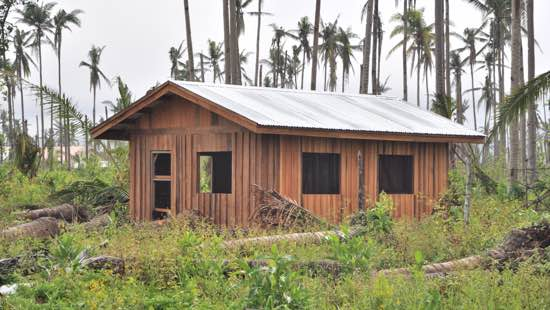 One of the 200 community homes built by Liberty in response to Typhoon Haiyan.
